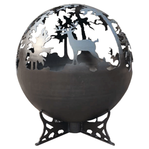 lifestyle appliances deer globe firepit LFS751