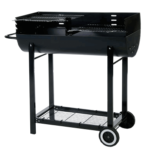 lifestyle appliances half barrel charcoal barbecue lfs253