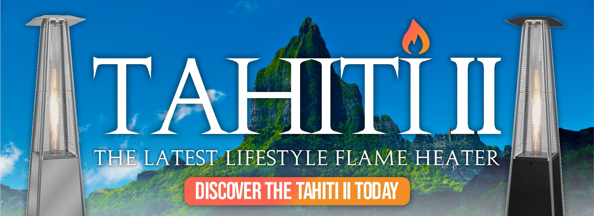 Lifestyle Tahiti II Patio Heater Website Banner